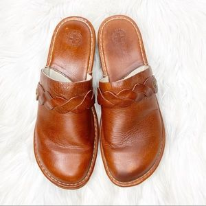 Dr. Marten Slip On Brown Leather Clogs